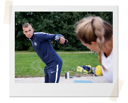 Oefening Personal Training - Polaroid
